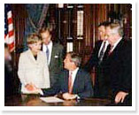 Former Governor, George W. Bush signs the country's first Baby Moses legislation, HB 3423 into law